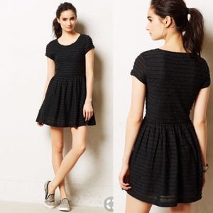 Anthropologie T Shirt Skater Dress Black Yumi L395